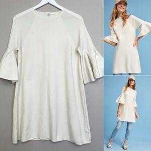 Anthropologie Moth Bell Sleeve Sweater Dress